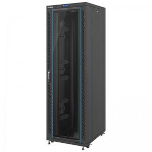 """Szafa rack 19"""" 42U 800x1000, stojąca, perforacja, czarna (Lanberg FF02-8042L-12B)"""
