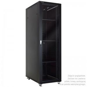 """Szafa rack 19"""" 47U 600x1000, stojąca, z szybą, czarna (Linkbasic NCB47-610-BAA-C-NA)"""