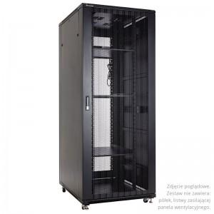 """Szafa rack 19"""" 47U 800x1000, stojąca, perforowana, czarna (Linkbasic NCB47-810-IFA-C-NA)"""