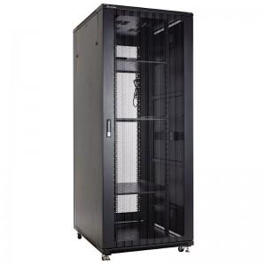 """Szafa rack 19"""" 47U 800x1000, stojąca, perforowana, czarna (Linkbasic NCB47-810-IFA-C-STD)"""