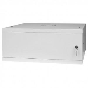 """Szafa rack 19"""" 4U 525x450, wisząca, metalowa, jednosekcyjna, szara (Stalflex RC19-4U-450MG)"""