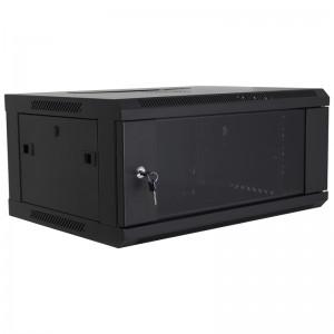 """Szafa rack 19"""" 4U 600x450, wisząca, z szybą, jednosekcyjna, czarna (Base Link BL-SRW190445SM-1C)"""
