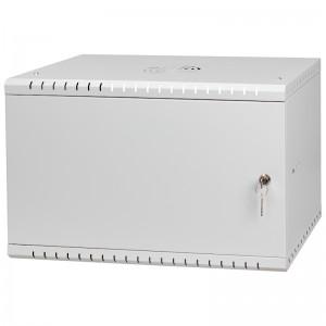 """Szafa rack 19"""" 6U 525x450, wisząca, metal, jednosekcyjna, szara (Stalflex RC19-6U-450MG)"""