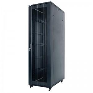 """Szafa rack 19"""" 42U 600x1000, stojąca, perforacja, czarna (STLFSC-42U-610-PDB)"""
