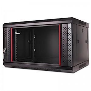 """Szafa rack 19"""" 6U 600x450, wisząca, z szybą, jednosekcyjna, czarna (Getfort WGF06-64EH-WGB)"""