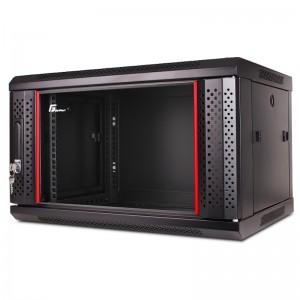 """Szafa rack 19"""" 6U 600x600, wisząca, z szybą, jednosekcyjna, czarna (Getfort WGF06-66EH-WGB)"""