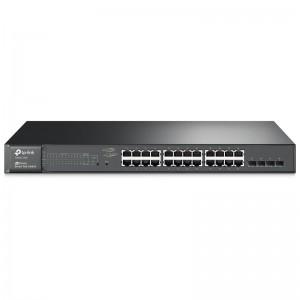 "TP-Link T1600G-28PS (TL-SG2424P), 24xGE PoE+ 192W, 2xGE SFP, konsola, 19"""
