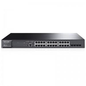 """TP-Link T2600G-28MPS (TL-SG3424P), 24xGE, 4xGE SFP, PoE 384W, 19"""""""