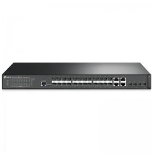 "Tp-Link T2600G-28SQ, 24xGE SFP, 4x10G SFP+, 4xGE (RJ-45/SFP), konsola, 19"""