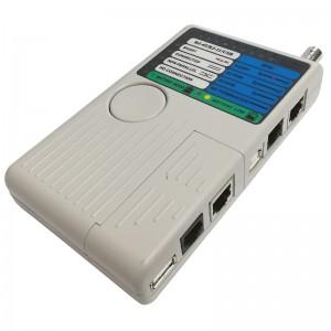 Tester okablowania RJ45, RJ11, USB, BNC (FC-4065)