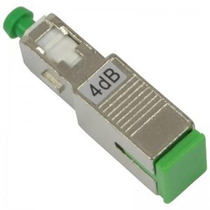 Tłumik optyczny SC/APC 4dB, typu adapterowego (Base Link BL-TAS4SA)