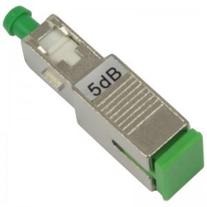Tłumik optyczny SC/APC 5dB, typu adapterowego (Base Link)