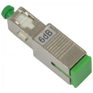 Tłumik optyczny SC/APC 6dB, typu adapterowego (Base Link BL-TAS6SA)