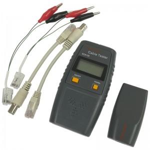 Tester okablowania RJ-45, RJ-11, BNC, funkcja głosowa (FC-4073)