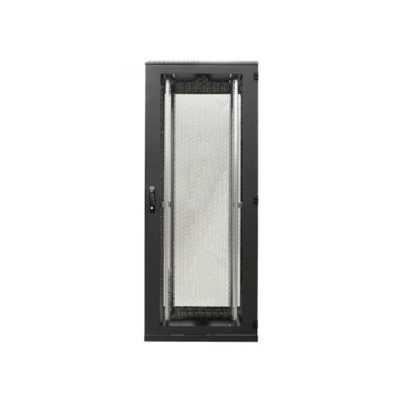 """Szafa rack 19"""" 42U 600x1000, stojąca, perforowana, czarna (BKT 11028613.1V2)"""