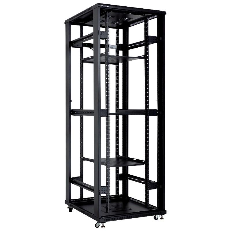 """Szafa rack 19"""" 42U 800x1000, stojąca, z szybą, czarna (Linkbasic NCB42-810-BAA-C-STD)"""