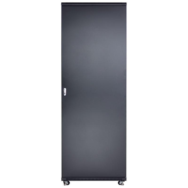 """Szafa rack 19"""" 42U 800x1000, stojąca, z szybą, czarna (Linkbasic NCB42-810-BAA-C)"""