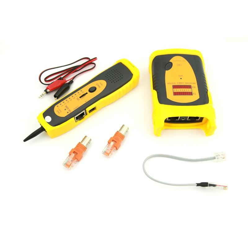 Tester okablowania LED z szukaczem/skanerem kabli (Base Link BL-CT4105)