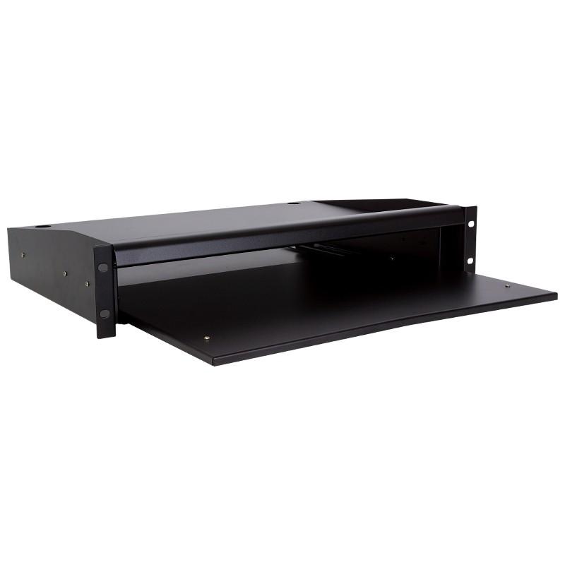 """Półka wysuwana pod klawiaturę / monitor, gł. 335mm, 2U, 19"""" (Linkbasic)"""