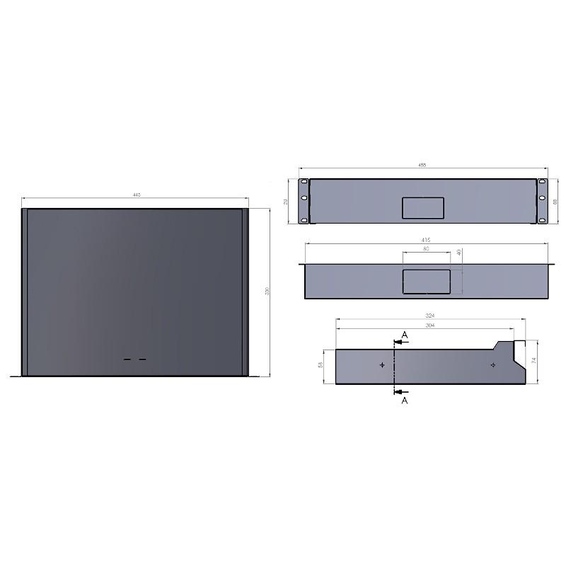 """Szuflada 2U do szafy rack 19"""" (Stalflex RD19-2U-B)"""