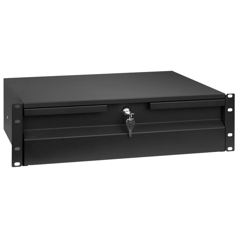 "Szuflada 3U do szafy rack 19"", czarna (Stalflex RD19-3U-B)"