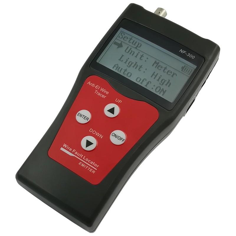 Tester okablowania LCD z szukaczem/skanerem kabli, RJ-45, RJ-11, BNC, USB (NF-300)