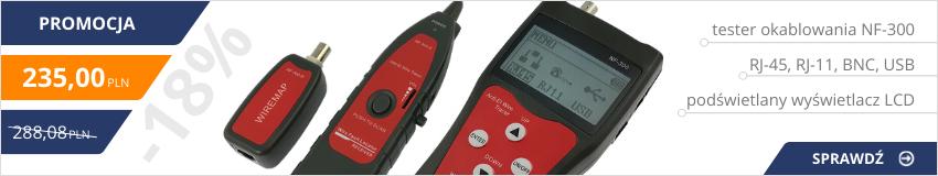 Tester okablowania NF-300 - 18% taniej !